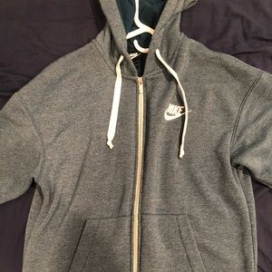 Nike Men's Blue Hoodie - Size Small